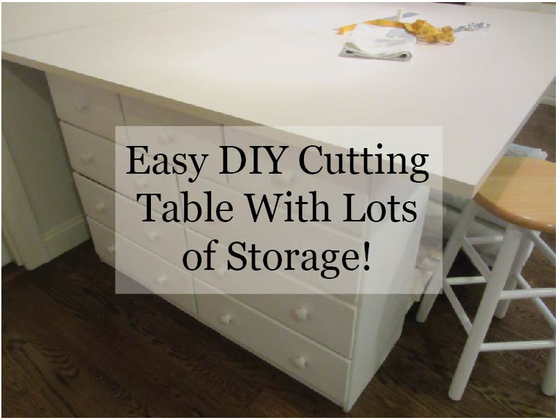 Make this easy diy cutting table with lots of storage for Diy cutting board storage
